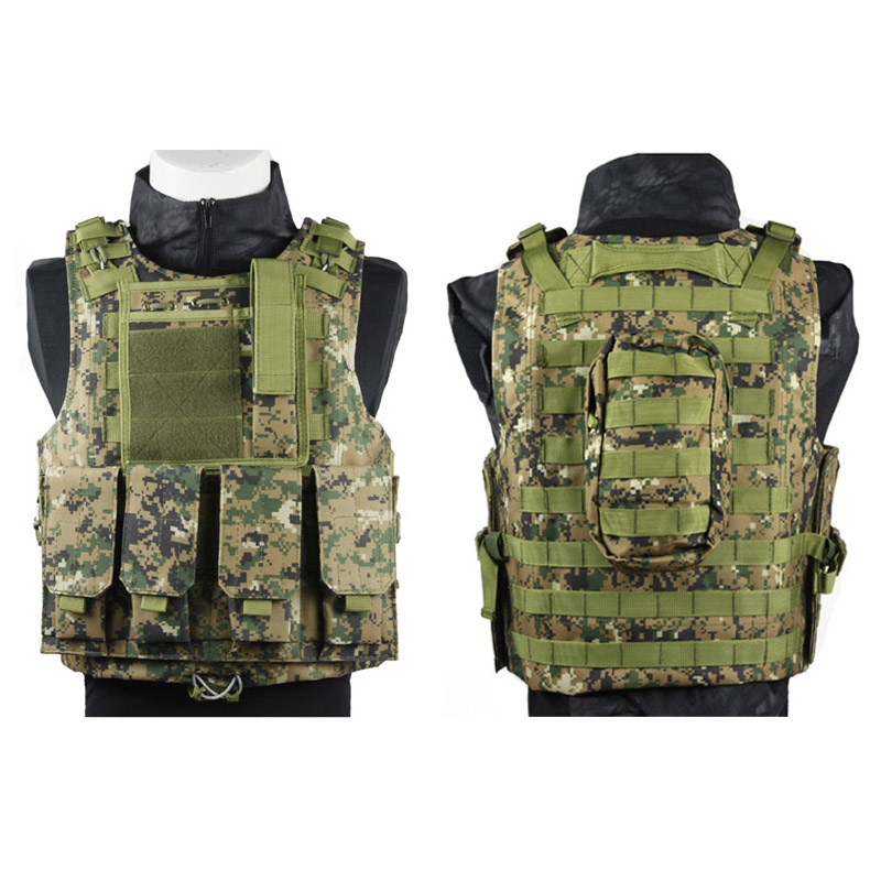 ФОТО Hot sale Camouflage Military Tactical Vest Airsoft Hunting Molle Vest CS Outdoor Equipment 13 colors