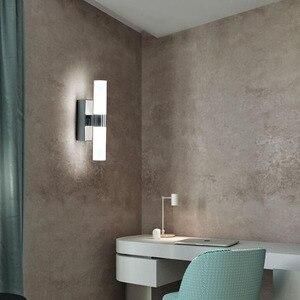 Image 3 - AC85 265V 6 ワットダブルヘッドアクリル led ウォールライトホテル/寝室の壁ランプ浴室のためのステンレス鋼 led ミラーライト