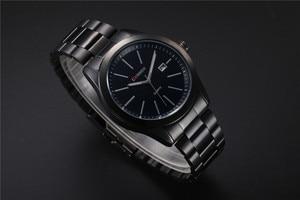 Image 4 - CURREN New Fashion Men Watches Full Steel Wristwatch Classic Business Male Clock Casual Military Quartz Calendar Watch Reloj