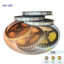 2018 New High CRI+90 5m 600 LED 2835  LED strip Light , DC 12V flexible light 120 led/m  LED strip white/warm white