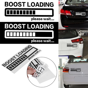 Funny Car Vinyl Sticker BOOST LOADING Please Wait..Window Decal for JDM Turbo Diesel Car Styling image