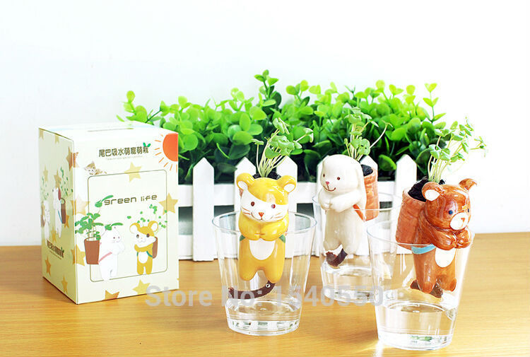 office flower pots. new arrival creative animal shape plant pots mini flower pot automatic water garden vase yard home office