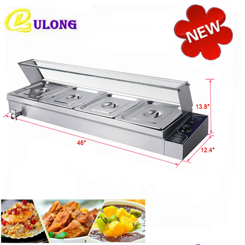 220V Electric Bain Marie Table Top Food Warmer Hot Soup Warming Countertop Kitchen Appliance for Sale