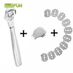 Image 3 - Afeitadora de piel madera de Durazno para pies, cortador de cutículas de maíz, lima de pedicura, callos de pie, 10 cuchillas, herramienta para el cuidado de los pies