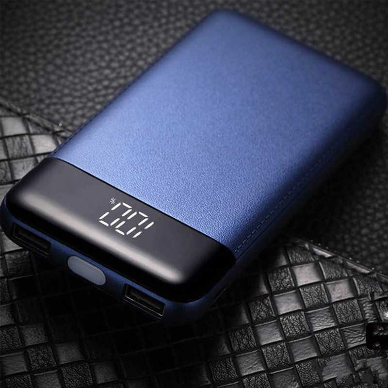 30000 MAh Power Bank External Battery Poverbank 2 USB LCD Powerbank Portable Mobile Phone Charger untuk Xiao Mi Mi iPhone 8X18650