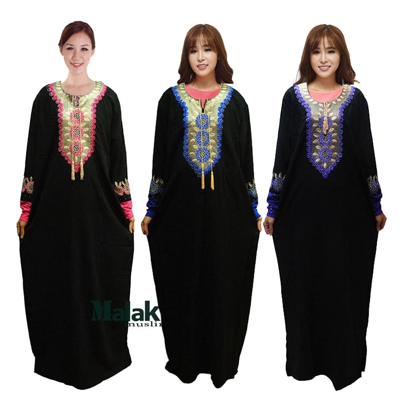 2016 Muslim Clothing Abaya Women Fashion Fashion Embroidery Diamonds Black Black