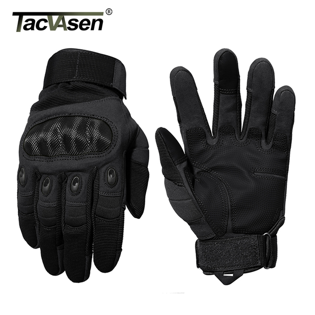TACVASEN Tactical Gloves Men Army Paintball Gloves Mitten Armor Protection Shell Full Finger Gloves Military Airsoft Accessories 4