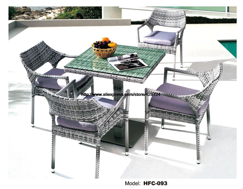 Leisure design american european hot sale holiday outdoor glass table chair set rattan sea beach swing pool gardern furniture