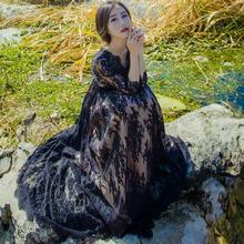 2017 Винтаж Лето Для женщин Кружево длинные платья макси элегантный выпускного вечера Мода Повседневное Женская одежда черный Кружево Vestidos De Fiesta aw463