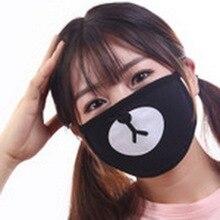 Ems или dhl 200 шт Черная хлопковая маска с милым медведем для лица респиратор для защиты от пыли