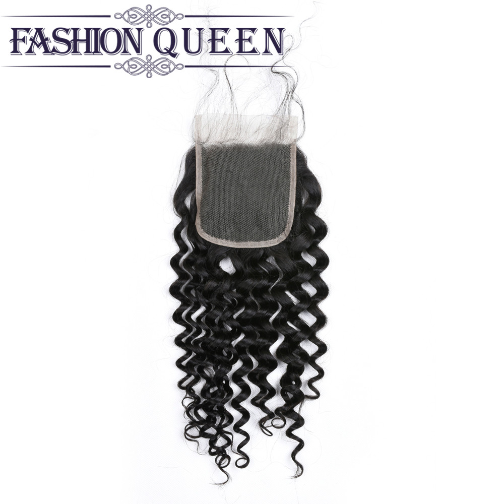 Malaysian Water Wave 4x4 Lace Closure with Baby hair 100% Human Hair Middle Free Three Part Closure Wet And Wavy Closure