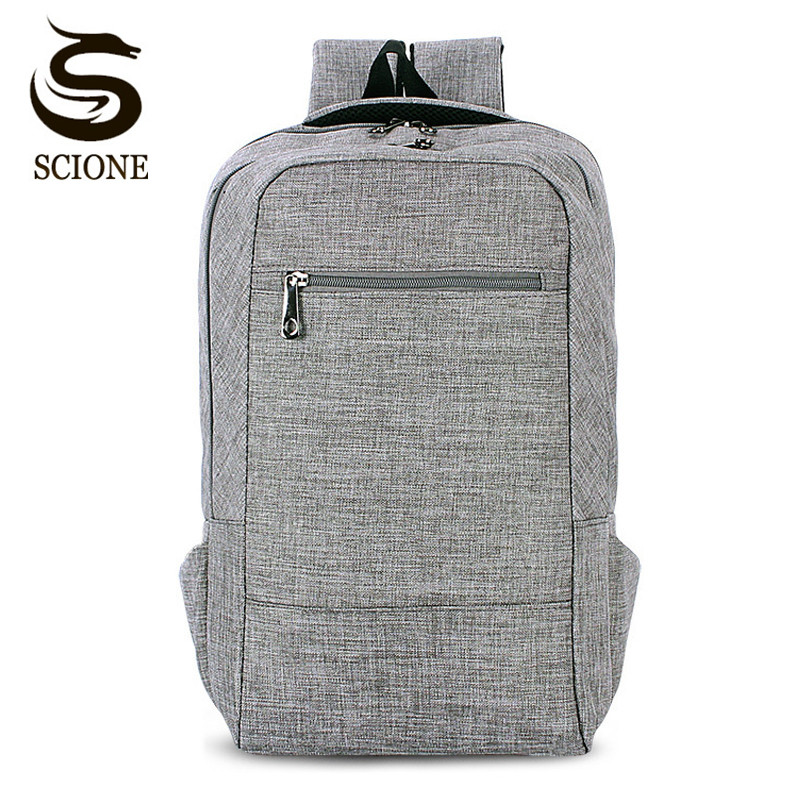 Scione New Simple Design Canvas Men's Backpack Solid 8 Colors Laptop Backpack School Bag for Women Female/Male Travel Back Packs