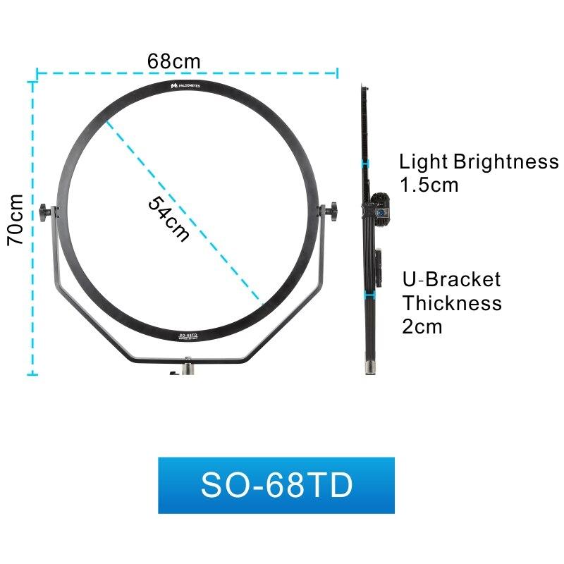 Falcon Eyes 68W Continuous Lighting Fotografia LED Soft Panel Bi-color For  Video Studio Movie Photography Lamp SO-68TD Kit Set
