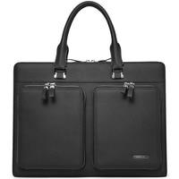 BOSTANTEN Male Briefcase Slim Laptop Business Vintage Genuine Leather Messenger Handbag Bags for Men & Women