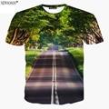 Newsosoo marca novo estilo 2017 estilo harajuku belas paisagens 3d impresso t shirt dos homens de verão dos homens unissex camisetas tops a12