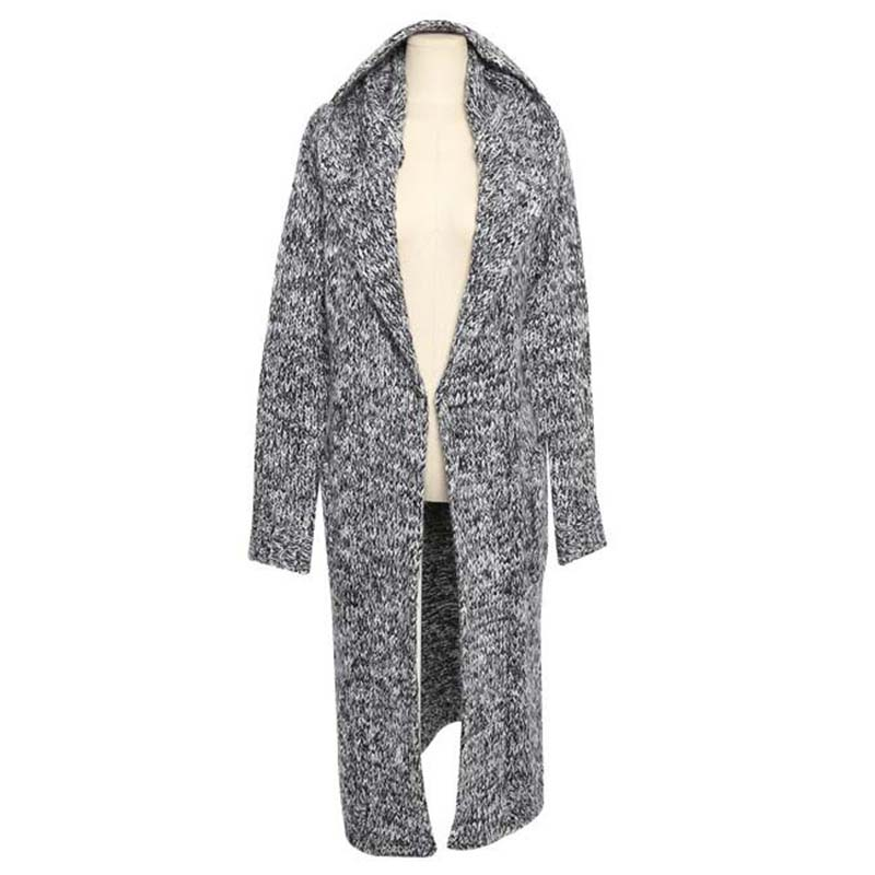 2017 Autumn Winter Hooded Long Cardigan Sweater Korean Knitted ...