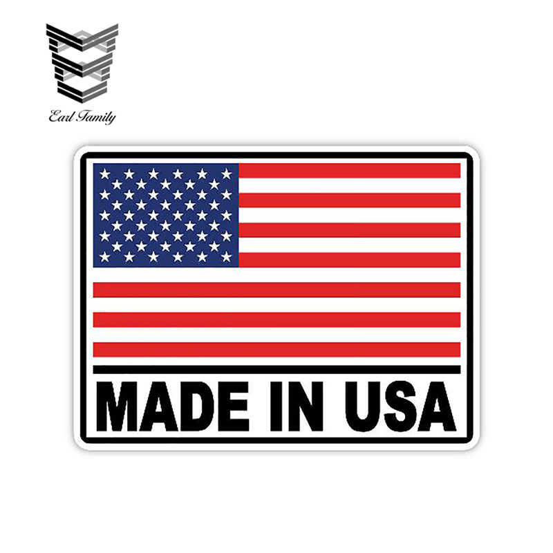 EARLFAMILY 13cm X 9.9cm Made in USA Sticker Decal SUP Paddle Board Kayak Canoe Boat Car Truck Vinyl Stickers Car Styling