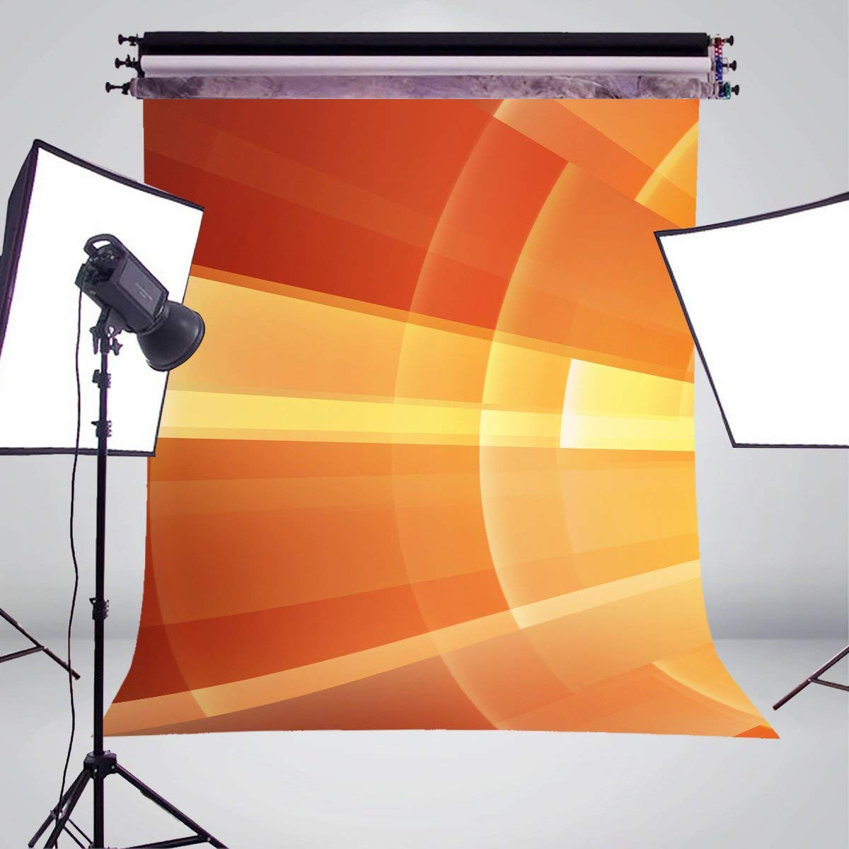 Image 3 - Abstract Art Background Photography Shining Backdrops For Picture Photo Studio Orange Background Props 5x7ft-in Photo Studio Accessories from Consumer Electronics