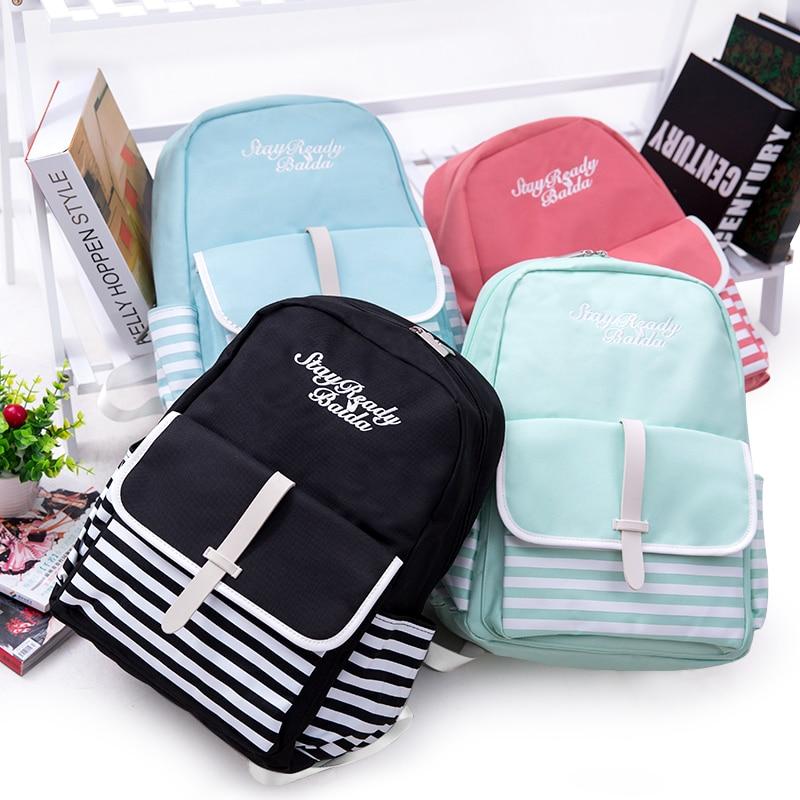 Купить с кэшбэком Baida Fashion School Backpacks Teenage Girls Canvas Women Back Pack Backpack Travel Bags mochilas escolares para adolescentes