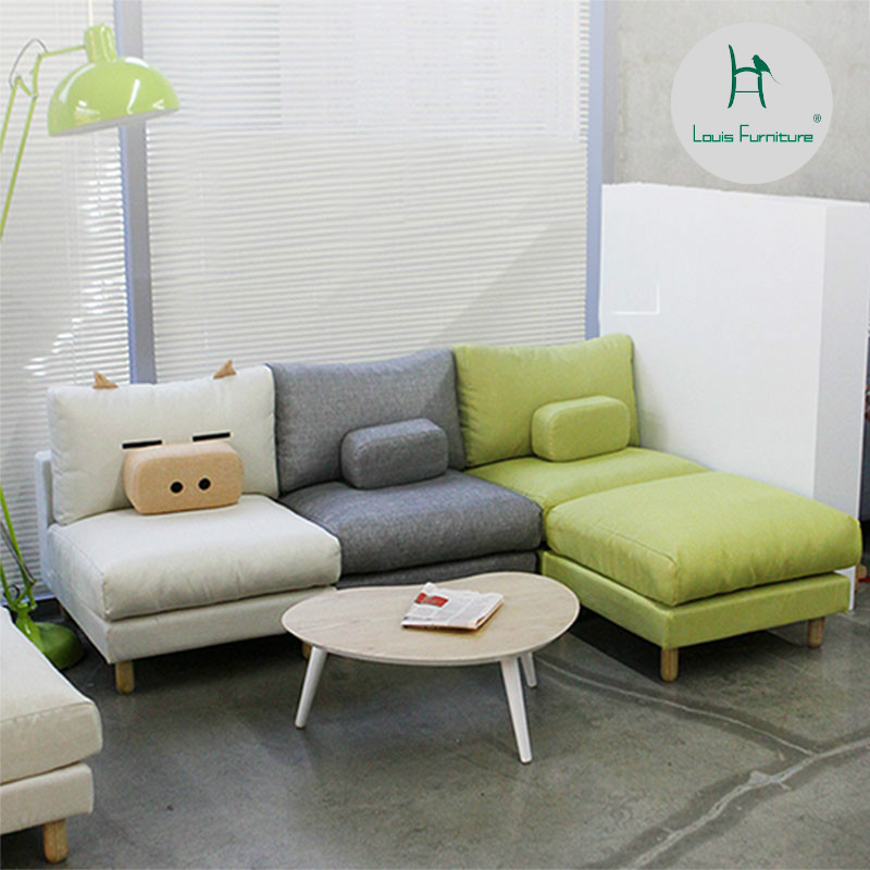 Louis Fashion Living Room Chairs Small Apartment Sofa Lazy