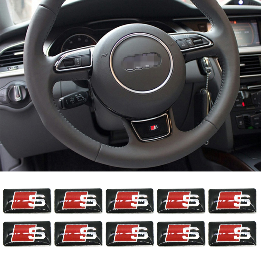 10pc S Line Metal Car Door/window Emblem 3D Decoration Sline Stickers For Audi S Sports A1 A3 A4 A5 A6 A7 A8 S8 Q3 Q5 Q7 брызговики на ауди q5 s line