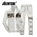 Jolintsai Patchwork Sporting Suit Men 2017 Zipper Hoodies&Sweatershirts+Sweatpants Tracksuit Men Chandal Hombre Hoodie Set Men