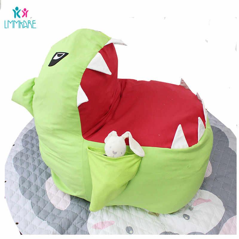 Bebê de pelúcia Saco de Armazenamento de Alta-capacidade de Multi-função Bonito Tubarão Brinquedo Das Crianças Sacos de Pessoas Preguiçosas Sofá Bebê Dos Desenhos Animados cadeira de Jogo de Cama