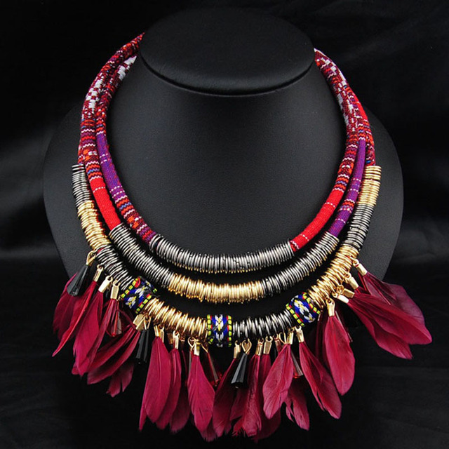 Ethnique Feather Necklace