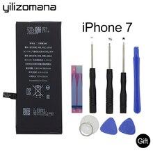 YILIZOMANA Original Replacement Mobile Phone Battery For Apple iPhone 7 7G Capacity 1960mAh Genuine Li-ion battery + Free Tools