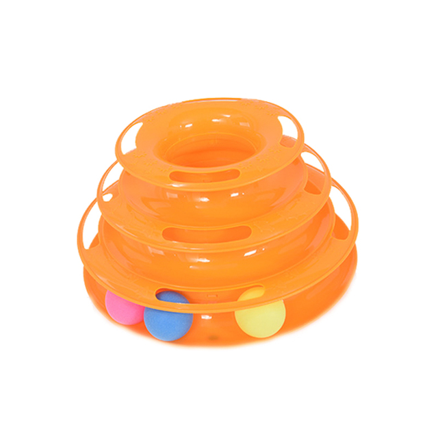 Three Levels Track Tower Cat Toy 2