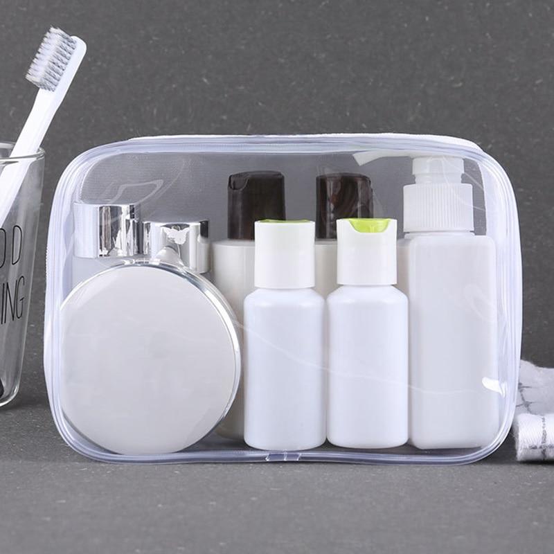 Women Transparent Cosmetic Bag Clear Zipper Travel Make Up Case Makeup box Beauty