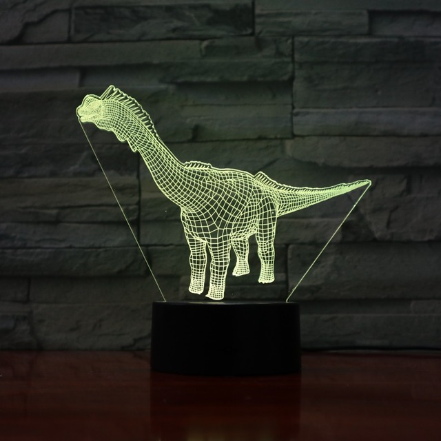 Animal De Bande Dessinee Dinosaure 3d Lampe Incroyable Optique