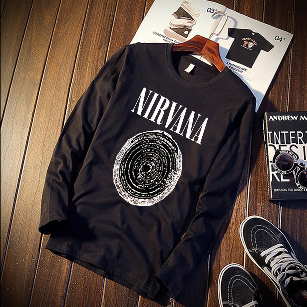 Skipoem Nirvana Music Band Logo Tattoo Funny Tshirt Custom Cotton O Neck Top Tee