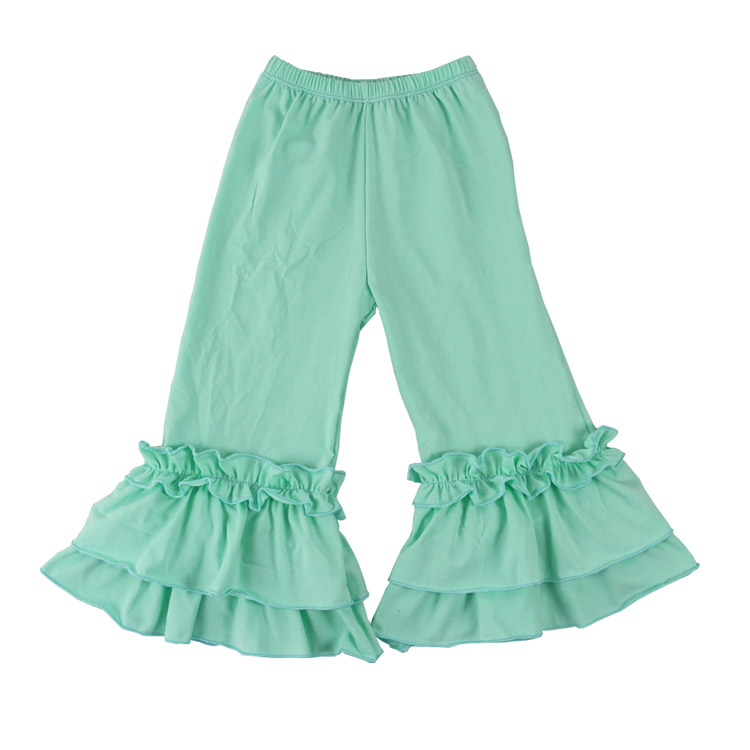 Hot sale fashion baby girls cotton Flares pants Ruffle long trousers for kids girl 1-6years children Loose Pants Baggy Pants 2018 spring girls and boys fashion loose straight elastic waist plaid cotton pants kids children casual wholesale long trousers page 1