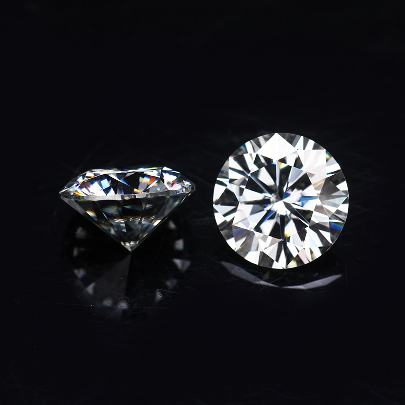 Round Brilliant Cut 1.25ct 7.0mm IJ Color Lab Created Moissanites loose stone diamond image