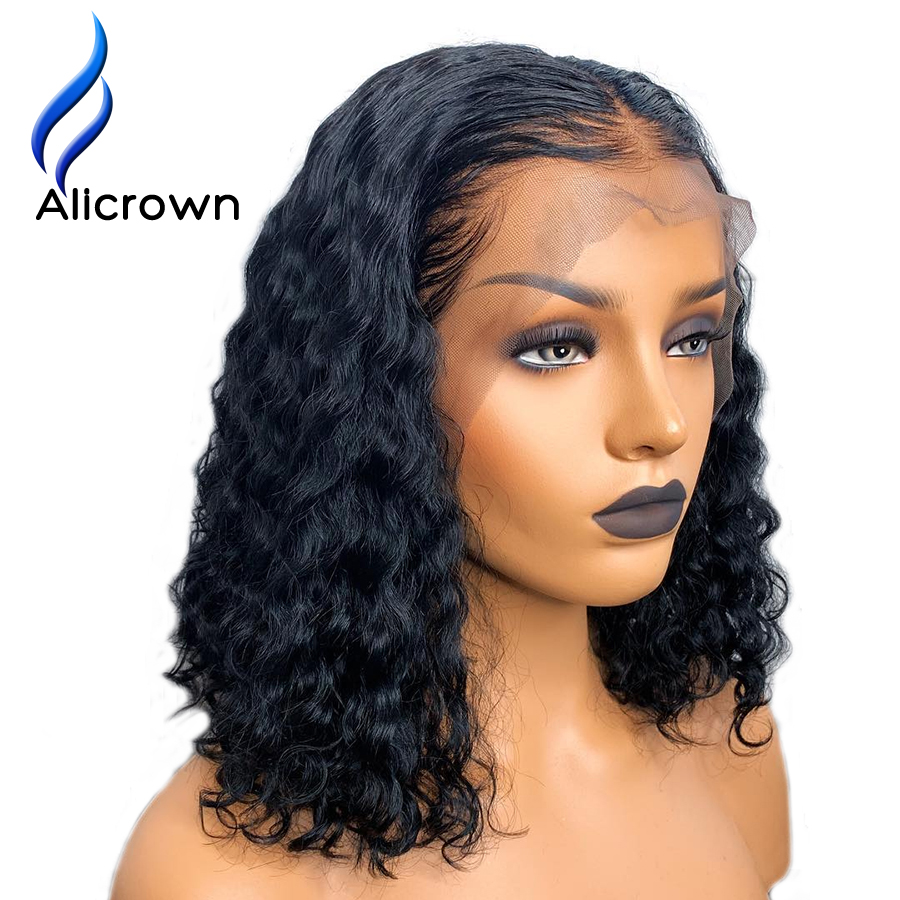 ALICROWN Lace Front Human Hair Wigs With Baby Hair Middle Part Brazilian Remy Hair 13 4