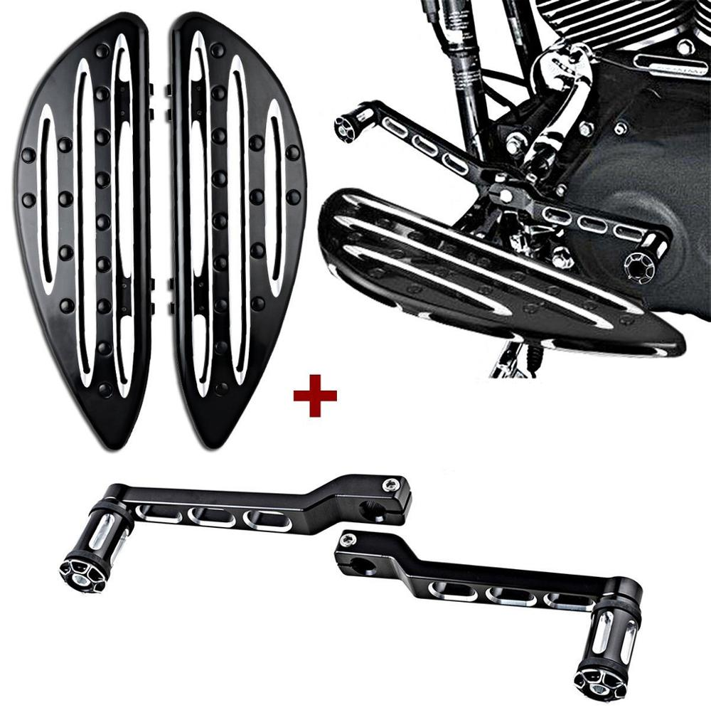 Harley Edge Deep Cut Floorboards Driver + Front Rear Shift Lever + Shifter Pegs 1988 1989 1990-2015 Dyna FLD Softail FL Touring left rear heel shift shifter lever pedal peg for harley touring softail fl 1988