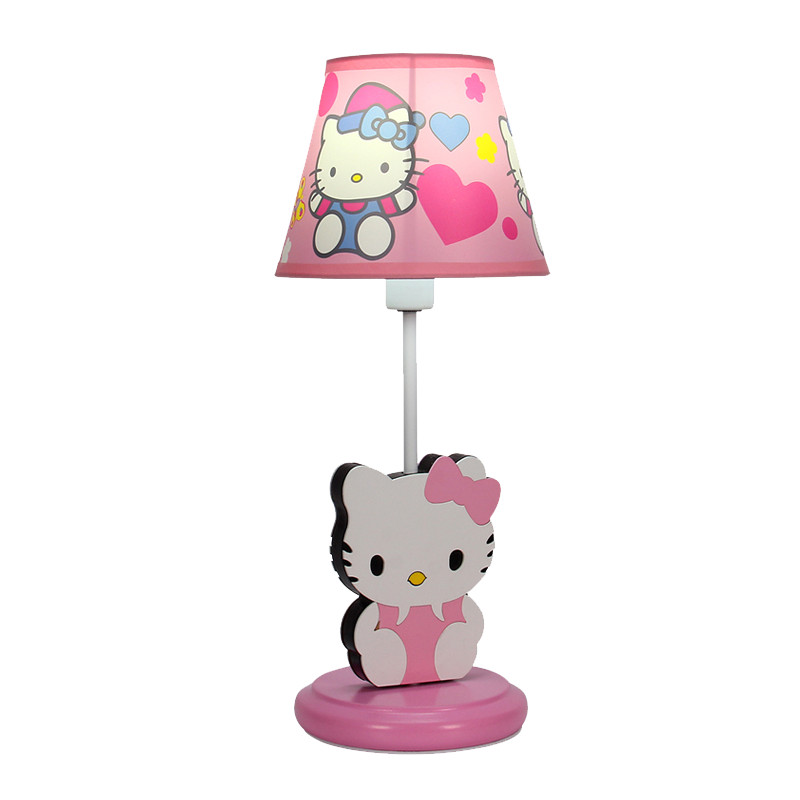 Hello Kitty Table Lamp Led Lovely Princess Desk Lights for Children Room Girl Bedroom Bedside Lamps Home Lighting Kids Gift