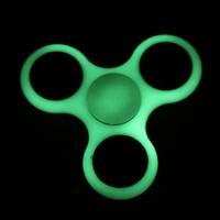 Luminous Tri Spinner Fidget Toy Plastic EDC Hand Spinner For Autism Glow In The Dark Stress