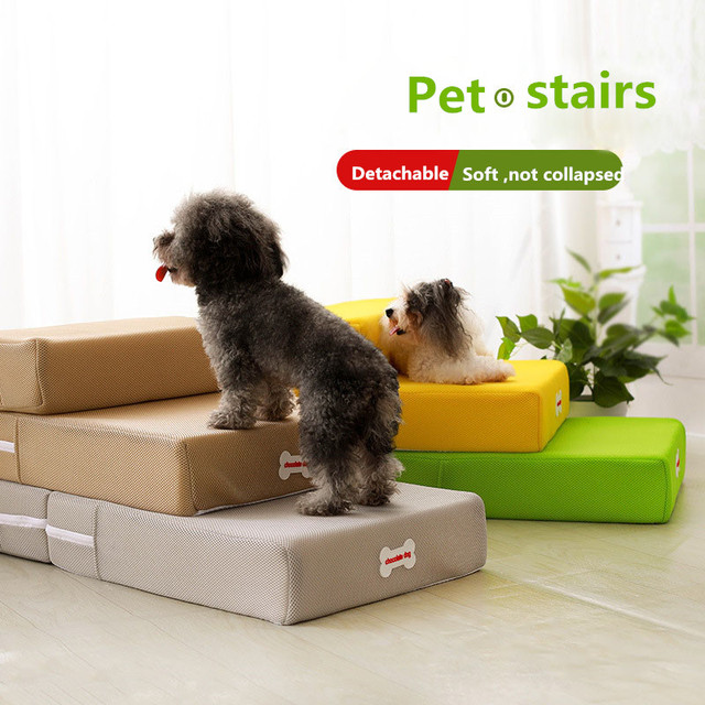 Dog Ramp For Bed >> Cute Home Cat Dog Pet Bed Stairs Ladder Foldable Dog Ramp Pet Mat