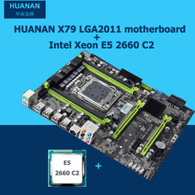 HUANAN motherboard CPU set X79 V2.49 motherboard Intel Xeon E5 2660 C2 4 channels RAM support 64G the most all tested in WIN7