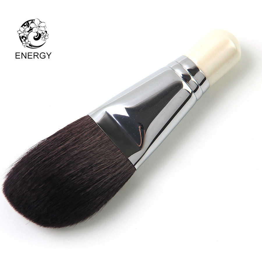 ENERGY Brand Large Angled Powder Brush Goat Hair Makeup Brushes Make Up Brush Pincel Maquiagem Brochas Maquillaje Pinceaux S48GW h01 professional makeup brushes squirrel hair sokouhou goat hair powder brush walnut wood handle cosmetic tools make up brush