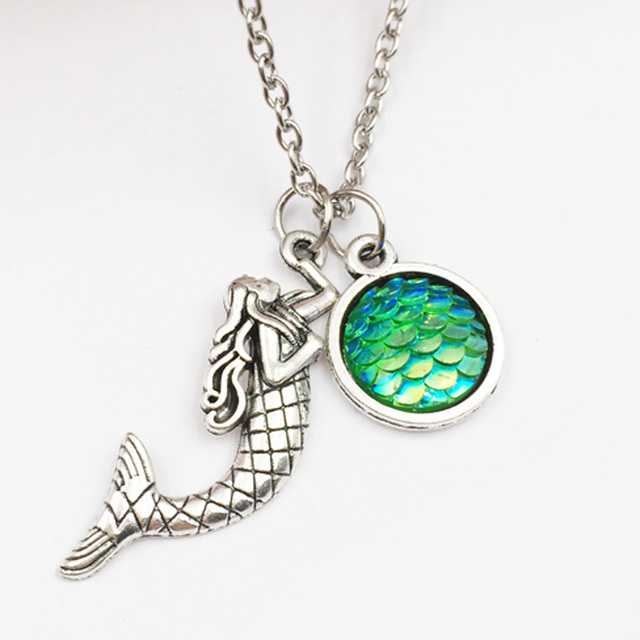 10pcs holographic mermaid necklace mermaid scales fish scale 10pcs holographic mermaid necklace mermaid scales fish scale necklace shimmery mermaid jewelry gift u pick color mozeypictures Images
