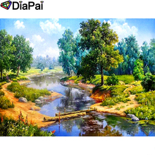 DIAPAI Diamond Painting 5D DIY 100% Full Square/Round Drill Creek tree scenery Embroidery Cross Stitch 3D Decor A24764