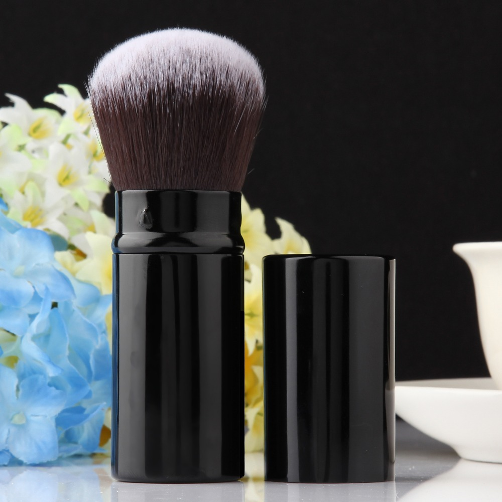 2017 Hot Mode Pro Ditarik Makeup Blush Brush Powder Kosmetik Adjustable Wajah Powder Brush Kabuki Brush TOP Kualitas