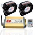 400W Police Siren Electronic Horn Car Alarm Siren AS830 Host Ultra Slim Speaker Kit 9 Tone Loudspeaker Wireless Car Styling