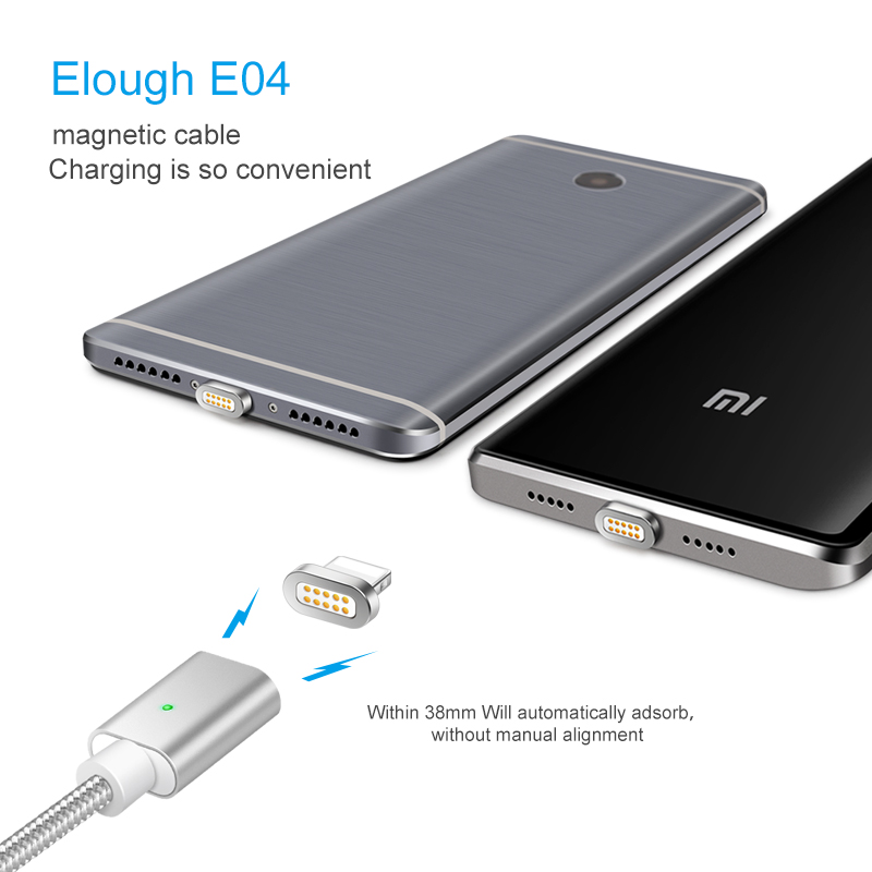 Image 4 - Elough E04 Magnetic Cable For iPhone Samsung Xiaomi Micro USB Type C Cable Fast Charging Mobile Phone Magnet Charger USB Cable-in Mobile Phone Cables from Cellphones & Telecommunications