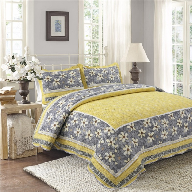 Chausub Sommer Quilt Set 3 Stücke Bettdecke Baumwolle Quilts