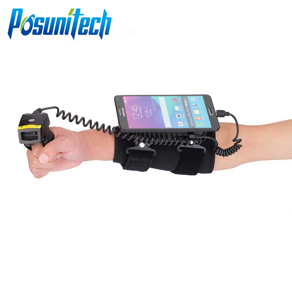 2D Wired Bluetooth Barcode Scanner Finger Laser & Wearable Data ...