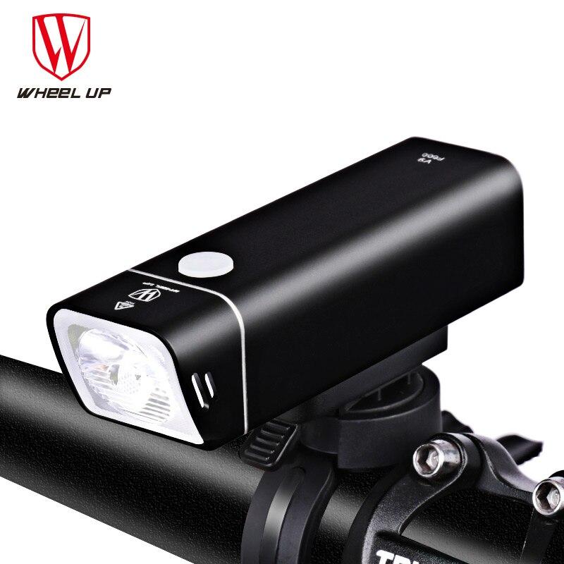 La ROUE De Vélo Led Lumière Rechargeable lampe de Poche Pour Vélo Vélo Batterie lampe de Poche Torche Phare Pour Vélo Accessoires